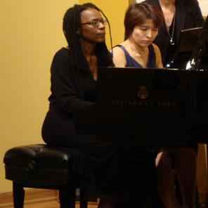 PIANO DUETS: Saeka Hasegawa and Deborah Brown perform Piano Duets by Aram Chatschaturjan and Darius Milhaud at their recital.