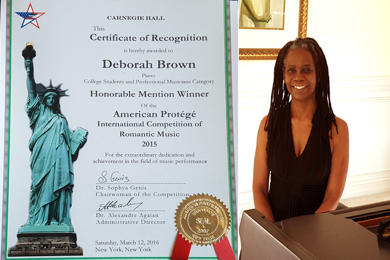Deborah Brown Carnegie Hall Certificate 4 4 16
